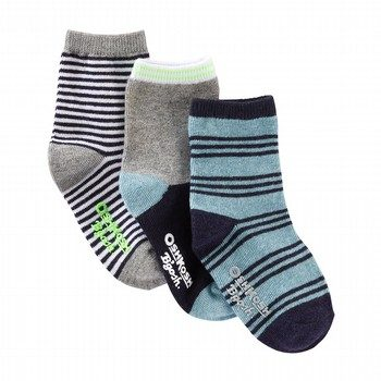 Oshkosh 3PK Stripe Crew Socks