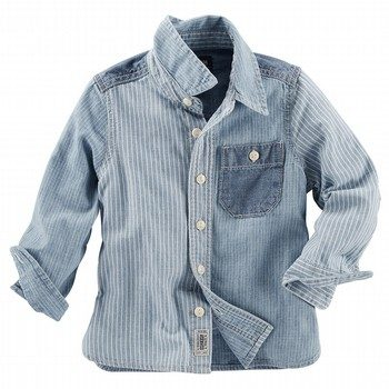 OshKosh Denim Block Stripe S/S Shirt
