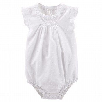 OshKosh Swiss Dot Flutter-Sleeve Bodysuit