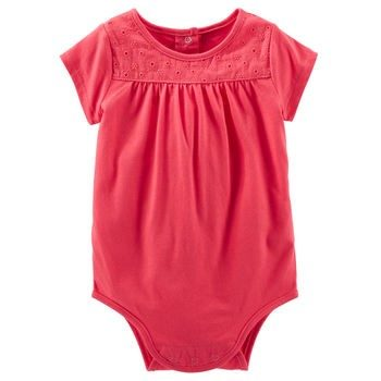 Oshkosh lace yoke Bodysuit