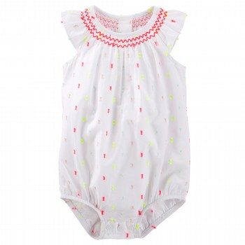 OshKosh Smocked Swiss Dot Bodysuit
