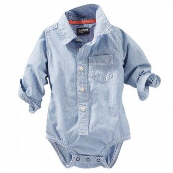 OshKosh Striped Button-Front Bodysuit