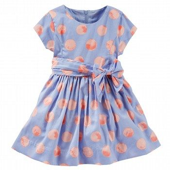 OshKosh Bow Gathered Print Dress