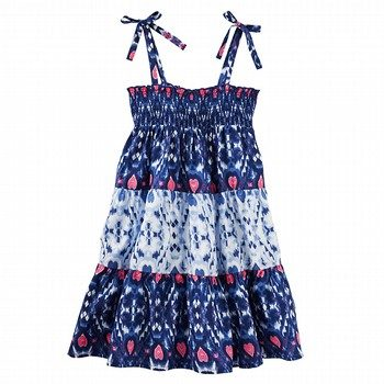 Oshkosh Smocked Printed Dress