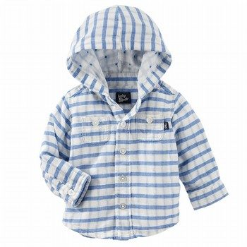 OshKosh Hooded Button Front Top
