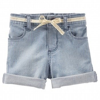 Oshkosh Roll Cuff Stripe Hickory Short