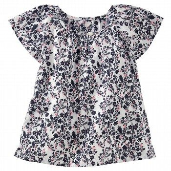 Oshkosh Flutter Sleeve Floral Top