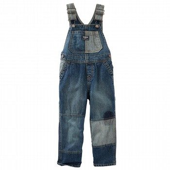OshKosh Patchwork Denim Overalls - Tumbled Medium Wash