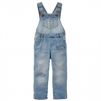 OshKosh Rip-&-Repair Denim Overalls - Nineties Wash