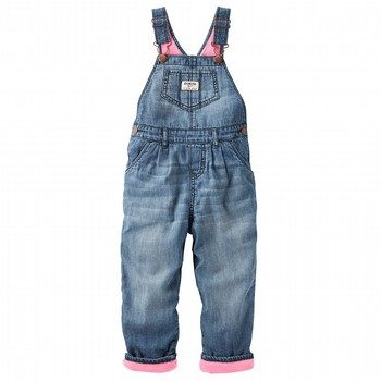 OshKosh Fleece-Lined Denim Overalls - Ribbon Blue