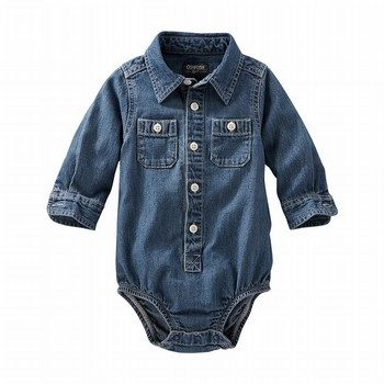OshKosh 2-Pocket Denim Bodysuit