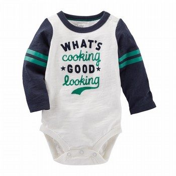 OshKosh Flocked Varsity Bodysuit