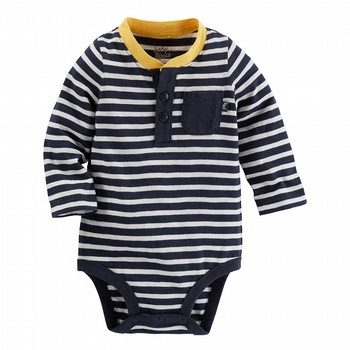 OshKosh Striped Ringer Henley Bodysuit