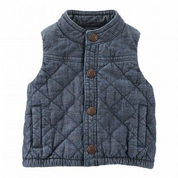 OshKosh Quilted Chambray Vest