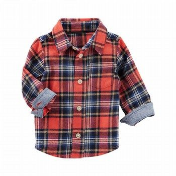 OshKosh Lightweight Flannel Button-Front Shirt
