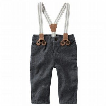 OshKosh Suspender Herringbone Pants
