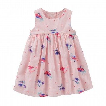 OshKosh 2PC Hummingbird Print Dress