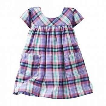 OshKosh 2PC Plaid Poplin Pocket Dress