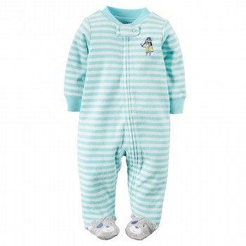 Carter's Terry Zip-Up Sleep & Play Onepiece
