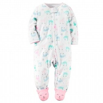 Carter's Fleece Zip-Up Sleep & Play Onepiece