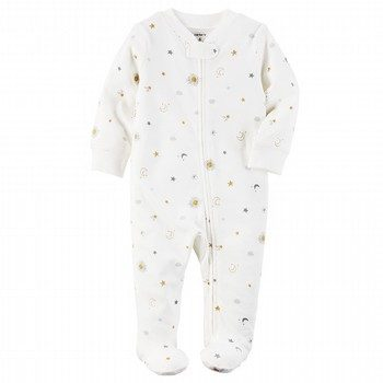 Carter's Footed Cotton Zip-Up One Piece