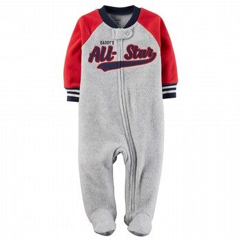 Carter's Heathered Fleece Zip-Up Sleep & Play One Piece
