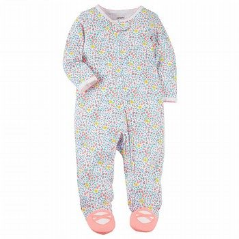 Carter's Snap-Up Floral Cotton Sleep & Play One Piece