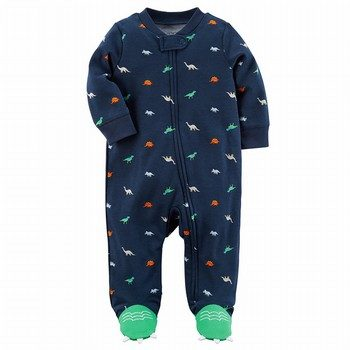 Carter's Zip-Up Dinosaur Cotton Sleep & Play One Piece