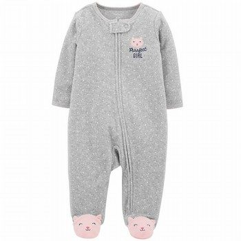 Carter's Zip-Up Terry Sleep & Play Onepiece