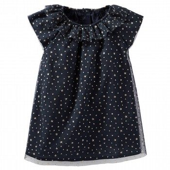 OshKosh 2PC Sparkle Star Print Tulle Dress