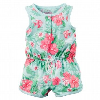 Carter's Printed Jersey Romper