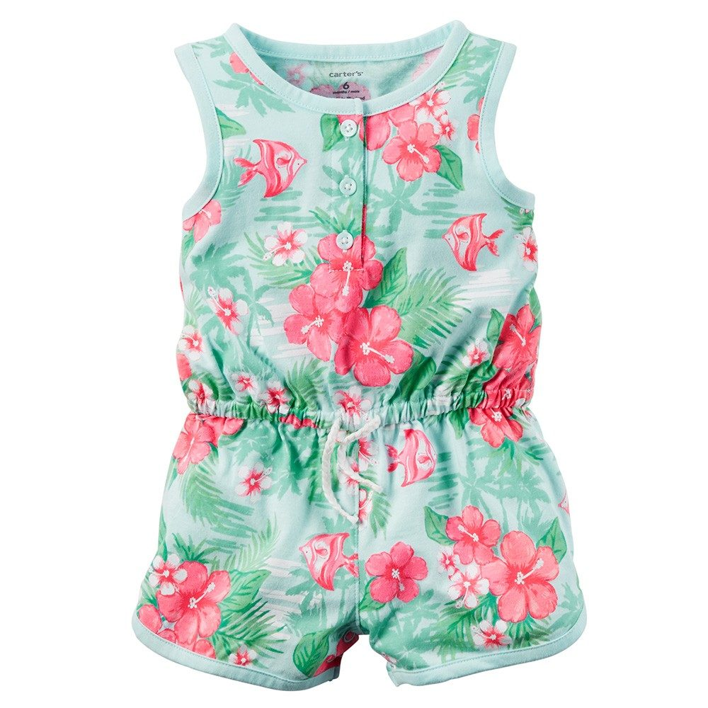 29119f36d Carter's Printed Jersey Romper - Baby Girl