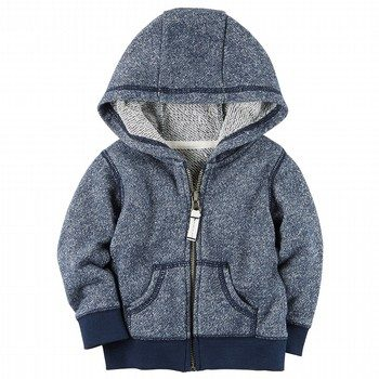 Carter's French Terry Zip-Front Hoodie