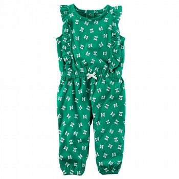 Carter's Flutter-Sleeve Butterfly Jumpsuit