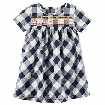 Carter's Gingham Poplin Dress