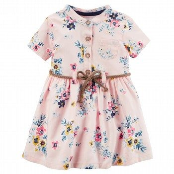 Carter's Floral Twill Shirt Dress
