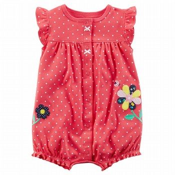 Carter's Flower Snap-Up Romper