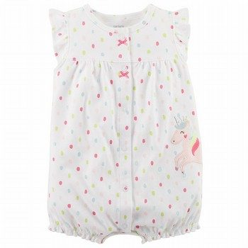 Carter's Unicorn Snap-Up Cotton Romper