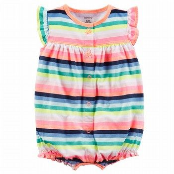Carter's Butterfly Snap-Up Cotton Romper