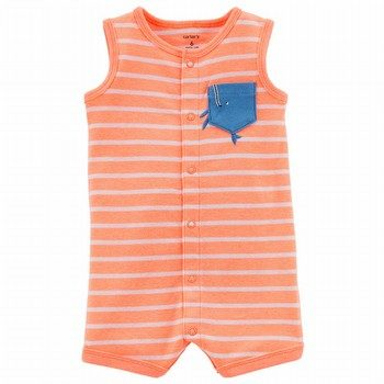 Carter's Neon Snap-Up Cotton Romper