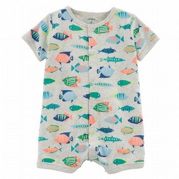 Carter's Fish Snap-Up Cotton Romper