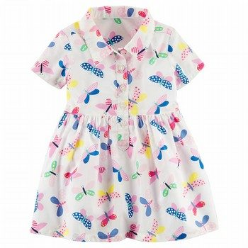 Carter's Butterfly Poplin Shirt Dress
