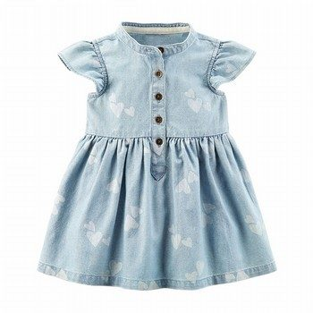 Carter's Heart Chambray Shirt Dress