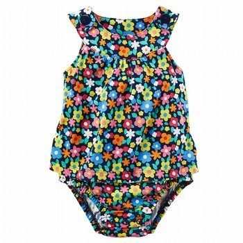 Carter's Floral Sunsuit Bodysuit