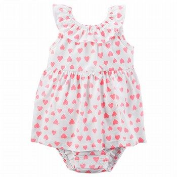 Carter's Heart Sunsuit Bodysuit