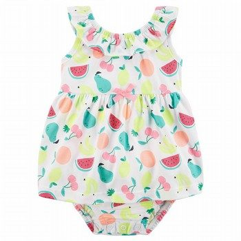 Carter's Fruit Ruffle Sunsuit