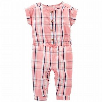 Carter's Plaid Jumpsuit