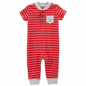 Carter's Striped Dog Jumpsuit