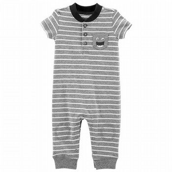 Carter's Striped Monster Jumpsuit