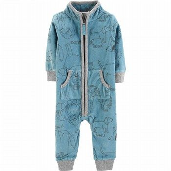 Carter's Dog Zip-Up Fleece Jumpsuit